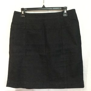 Anne Klein deep blue jean skirt